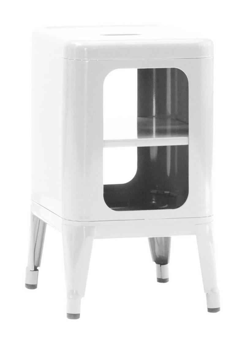 Table de chevet laquée blanc design