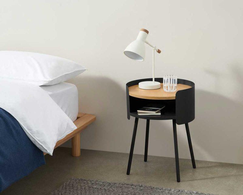 Table de nuit design ronde