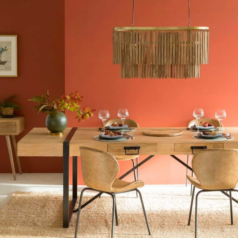Table de salle manger bois massif avec rallonges