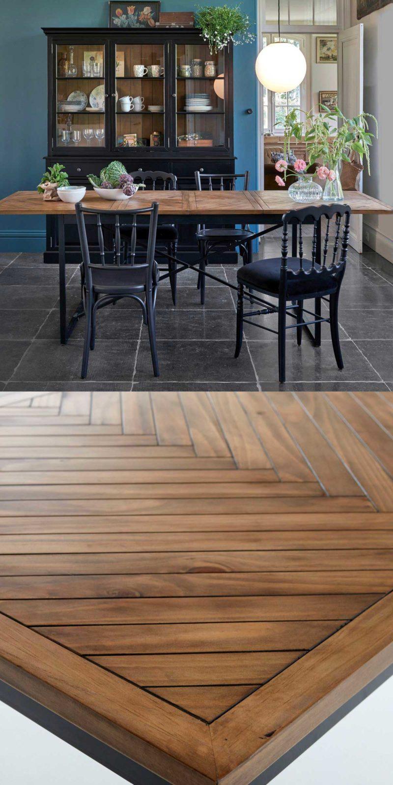 Table en bois massif à rallonges