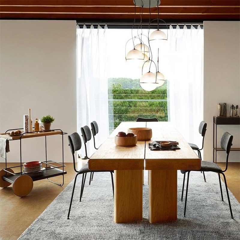 Table en bois massif rectangulaire douze personnes
