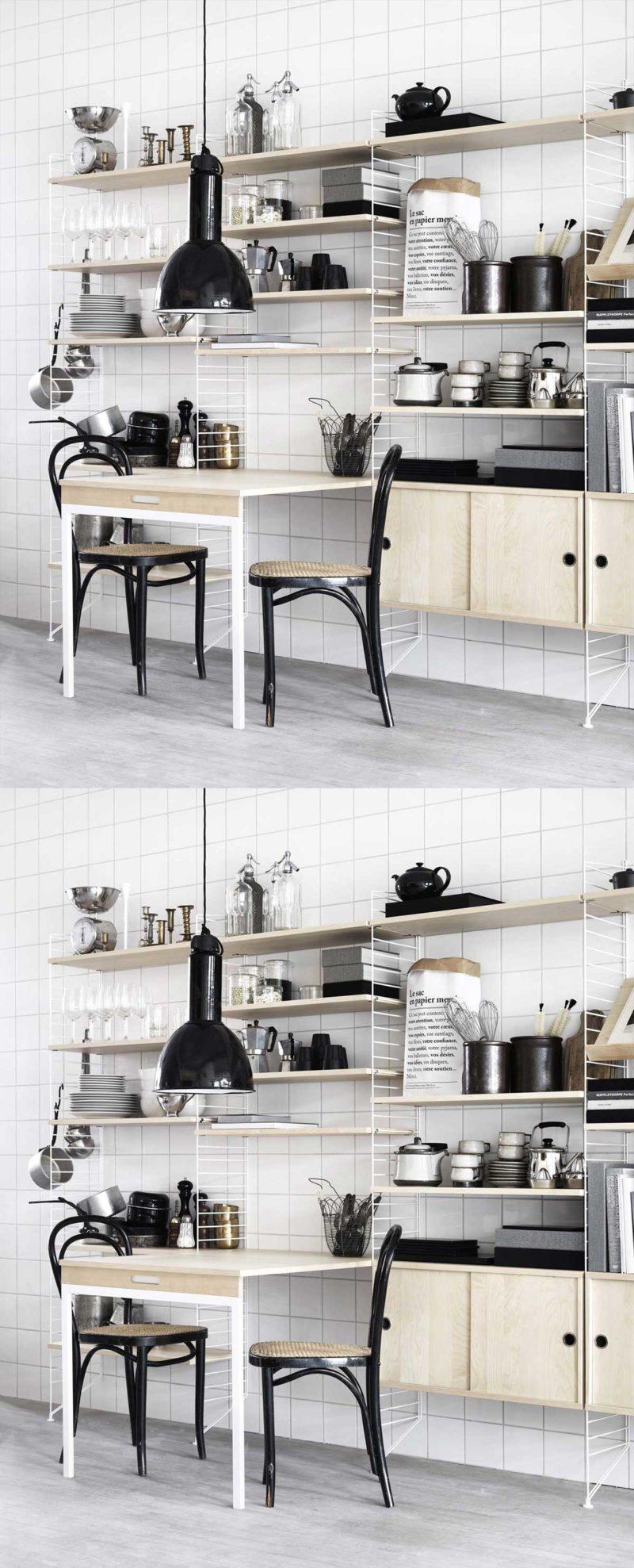 Table escamotable pour gagner de la place dans la cuisine