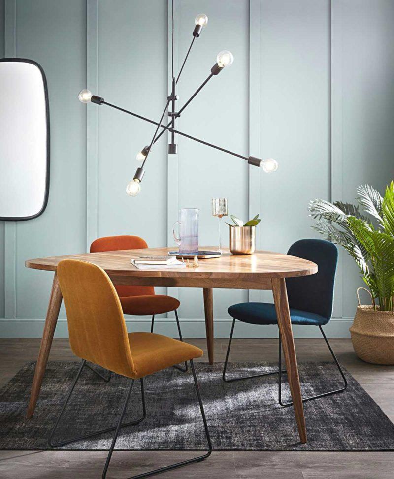 Table tripode en bois massif esprit vintage