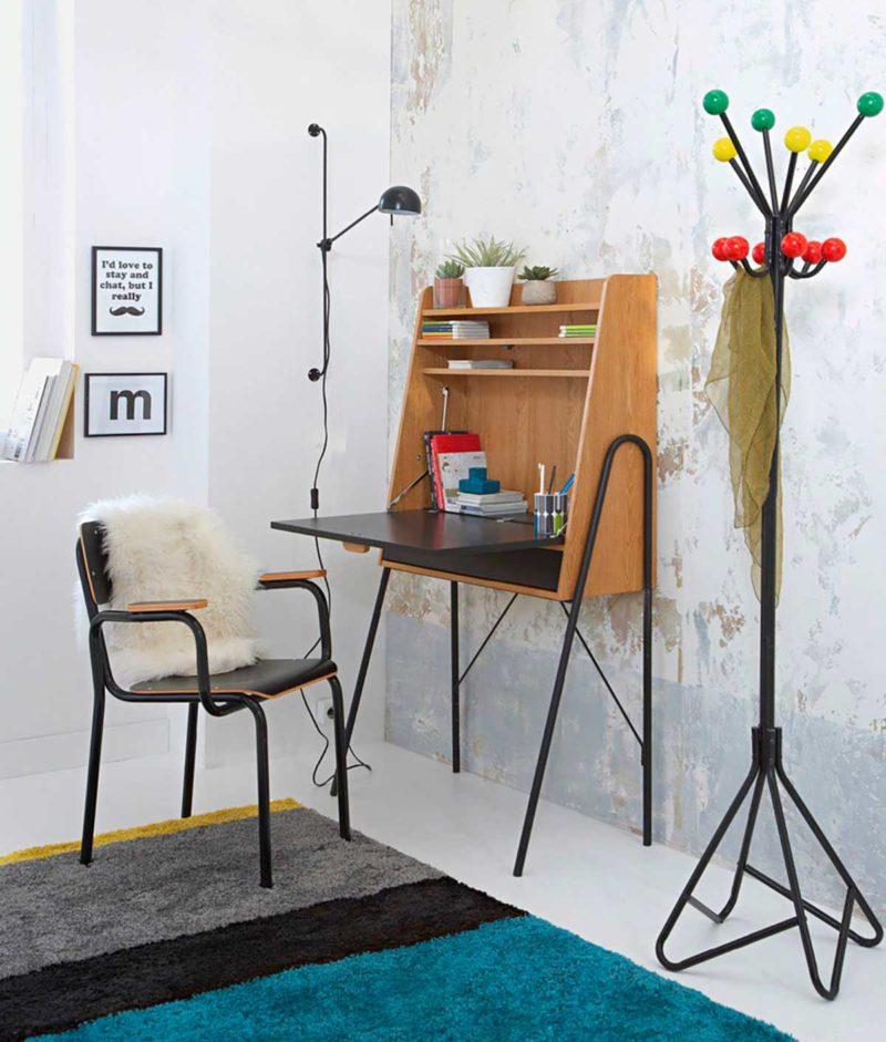 Bureau avec fauteuil école noir