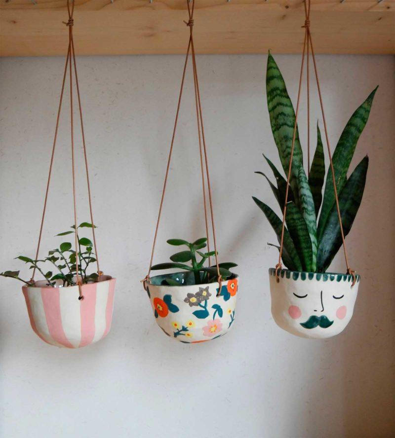 Cache-pot suspendu pour plantes