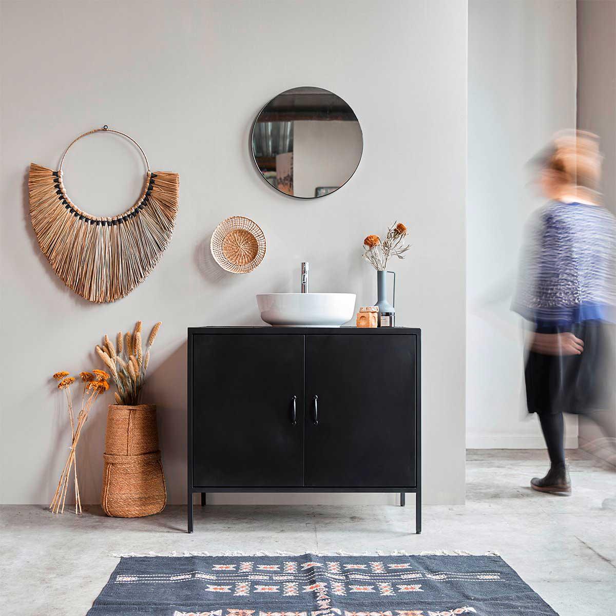 18 meubles sous vasque noirs pour la salle de bains