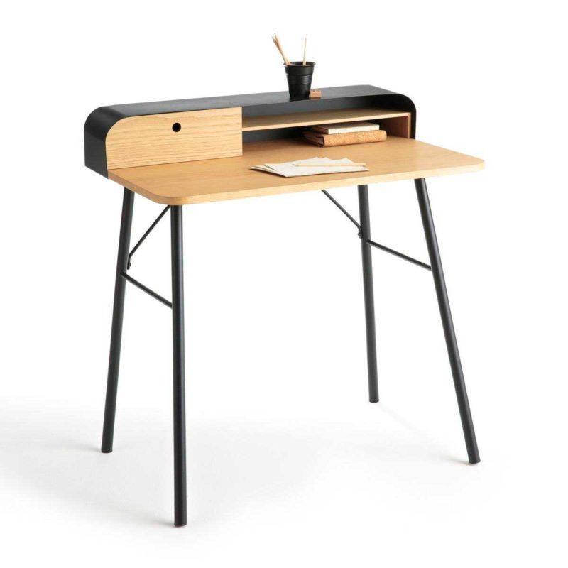 Petit bureau au design moderne en métal et bois