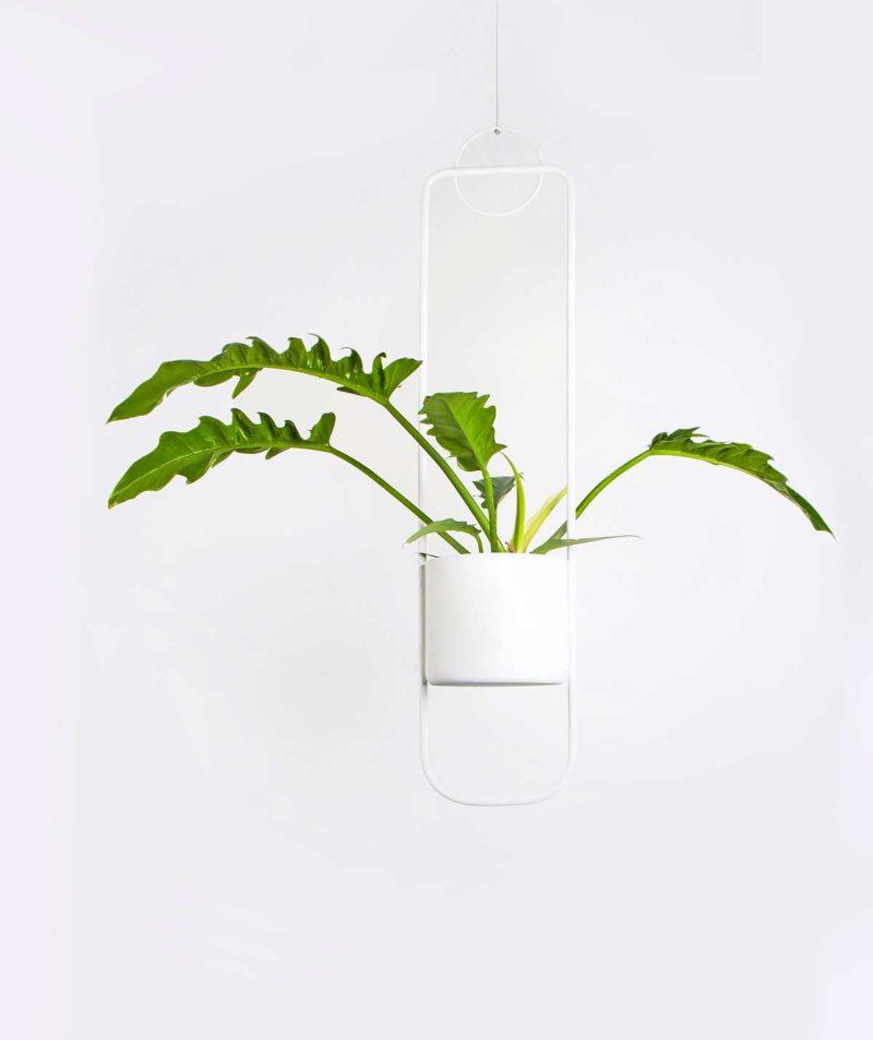 Pot de fleur a suspendre au design moderne