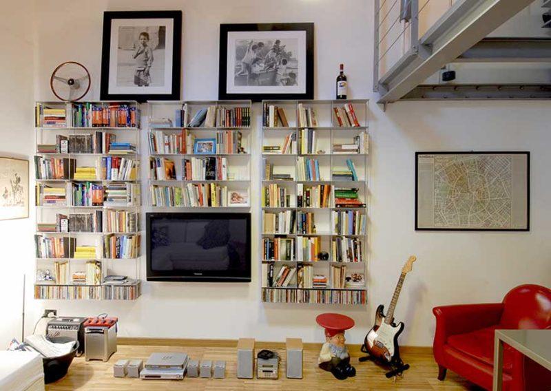 Système d'étagère murale en métal meuble TV