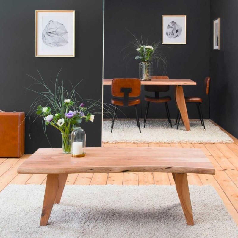 Table basse bois massif tronc