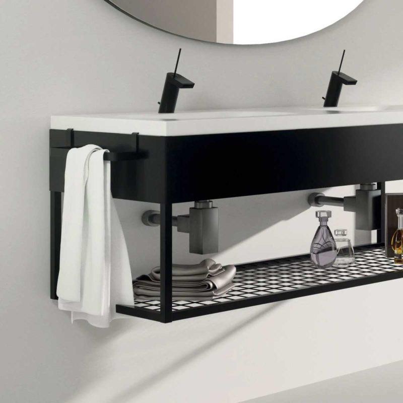 Vasque suspendue noir et blanc