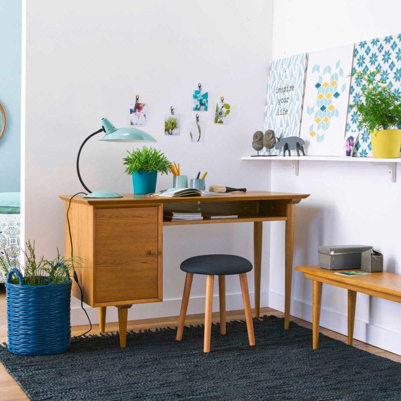 Bureau style vintage avec rangements