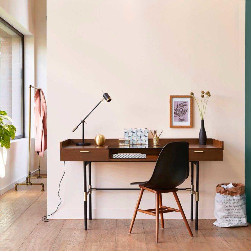 Bureau style vintage en métal et bois