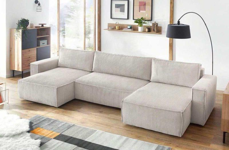 Canapé panoramique en velours