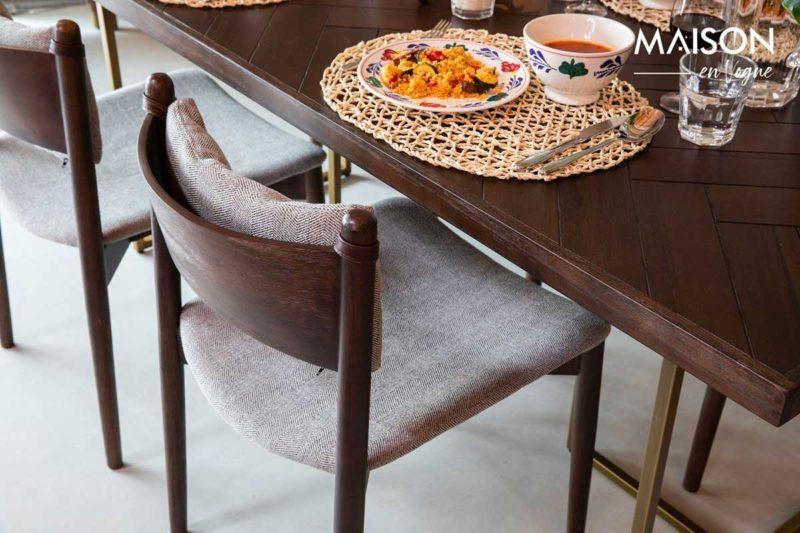Chaise au design vintage en tissu