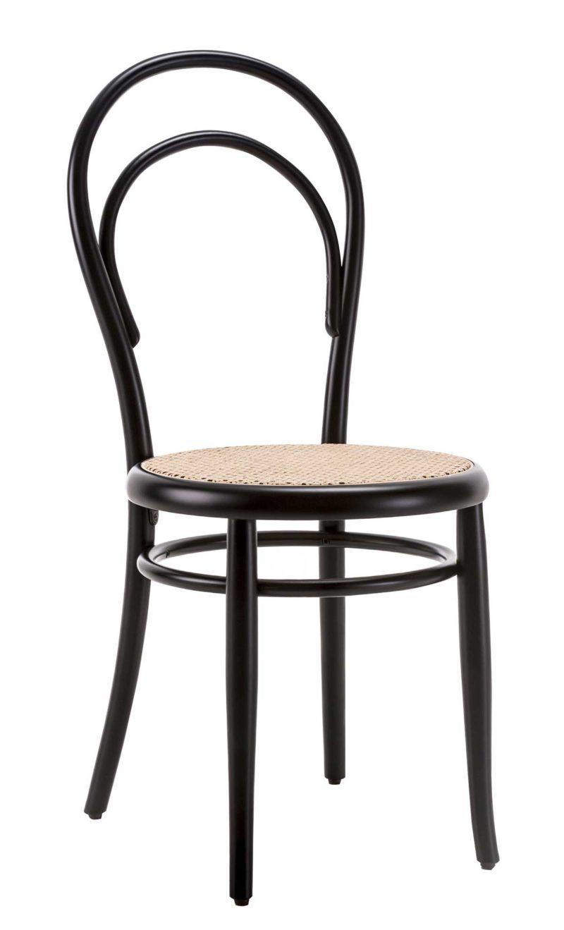 Chaise de bistrot Thonet en cannage