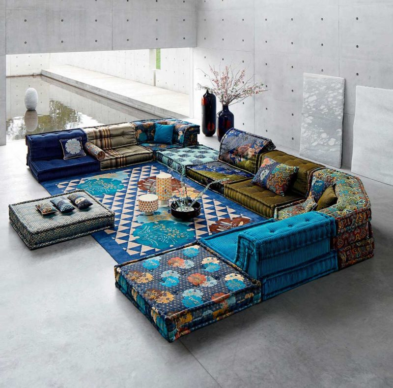 Grand canapé Mah Jong panoramique 14 places