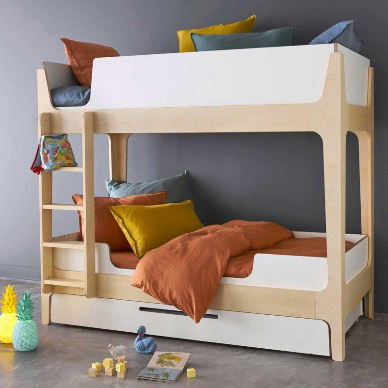 Lit superposé pour enfant avec tiroir