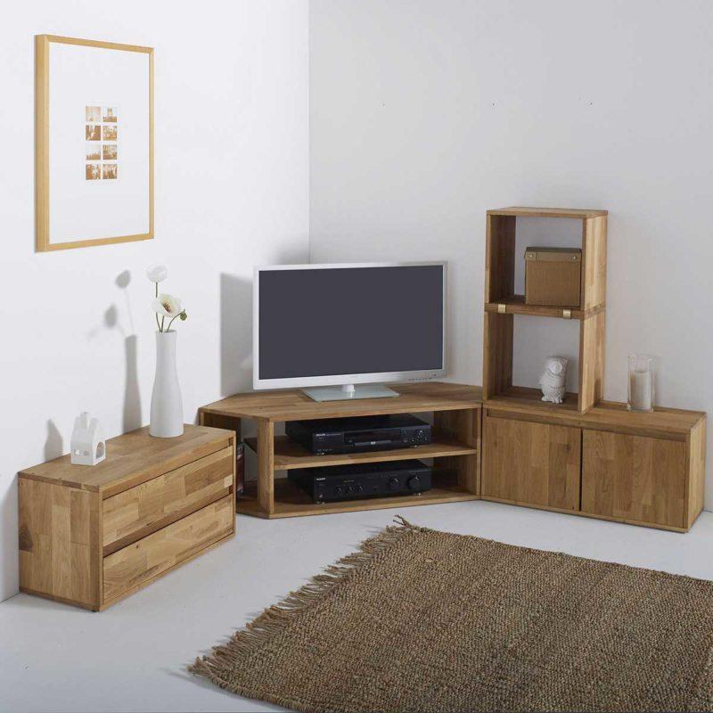 Meuble TV d'angle en bois à composer
