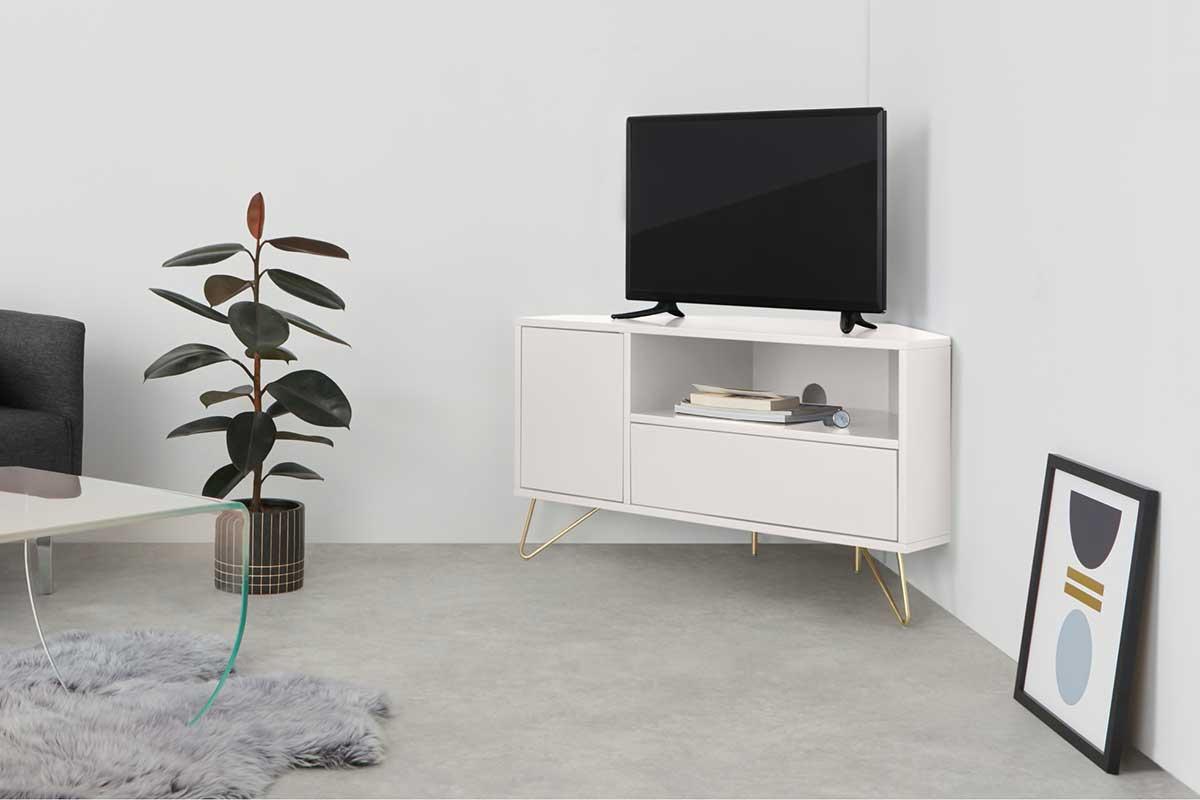 Meuble TV d'angle : 12 modèles astucieux pour le salon