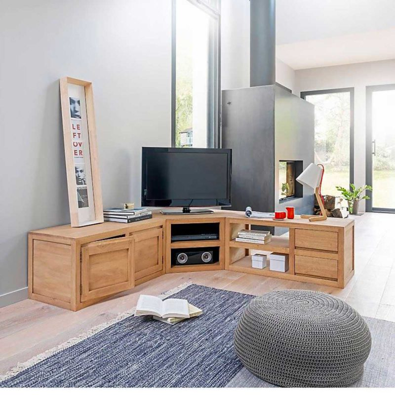 Meuble TV d'angle modulable