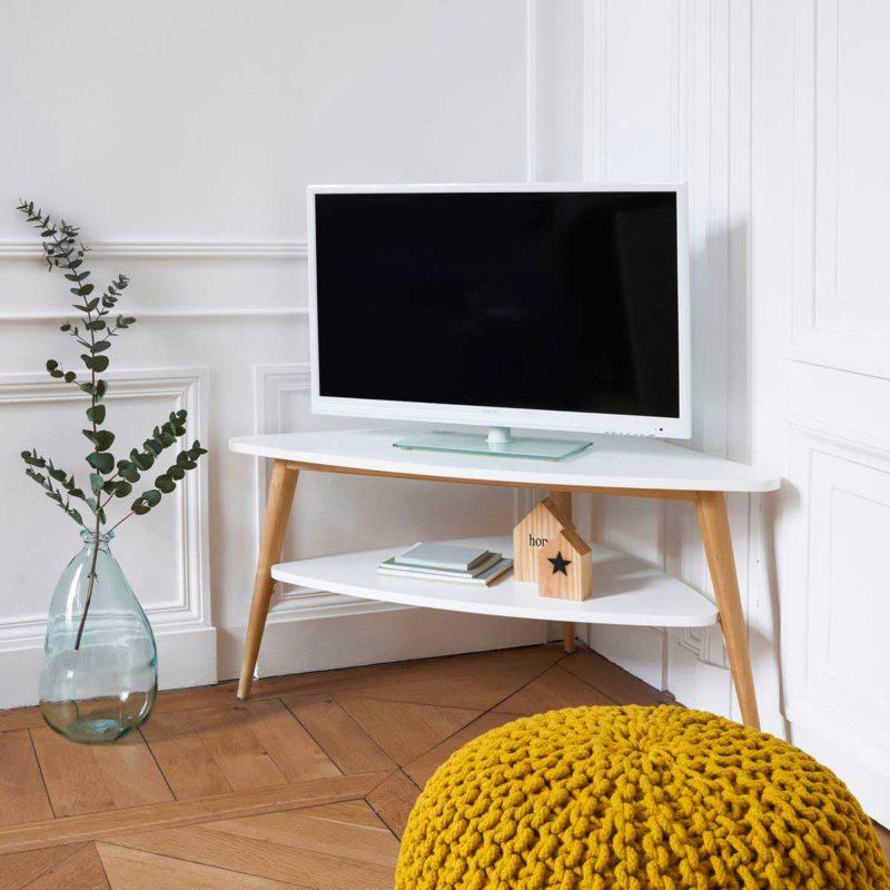 Meuble TV en angle style scandinave