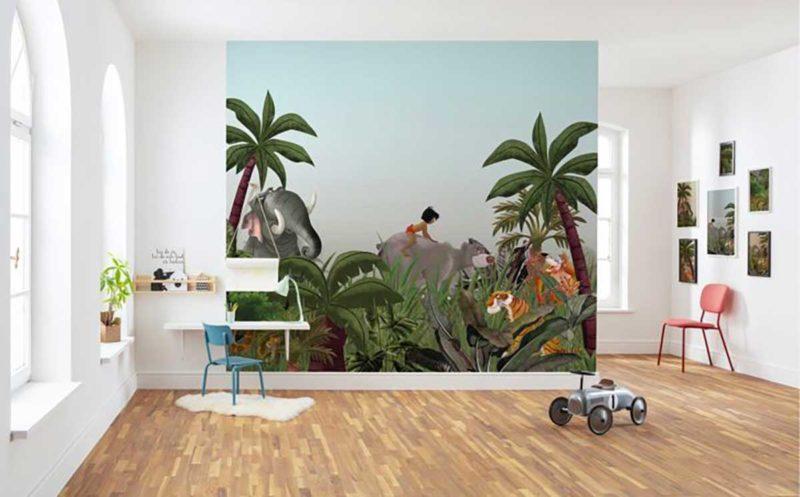 Papier peint panoramique le livre de la jungle