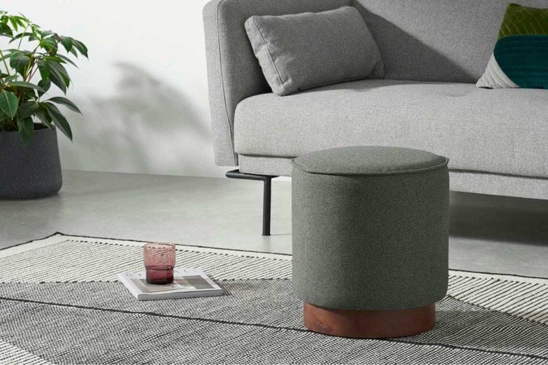 Petit pouf gris design