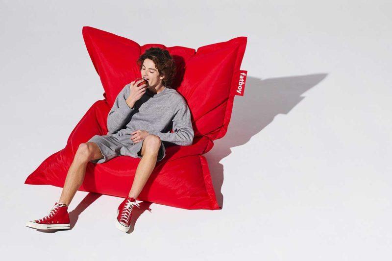 Pouf géant rouge design