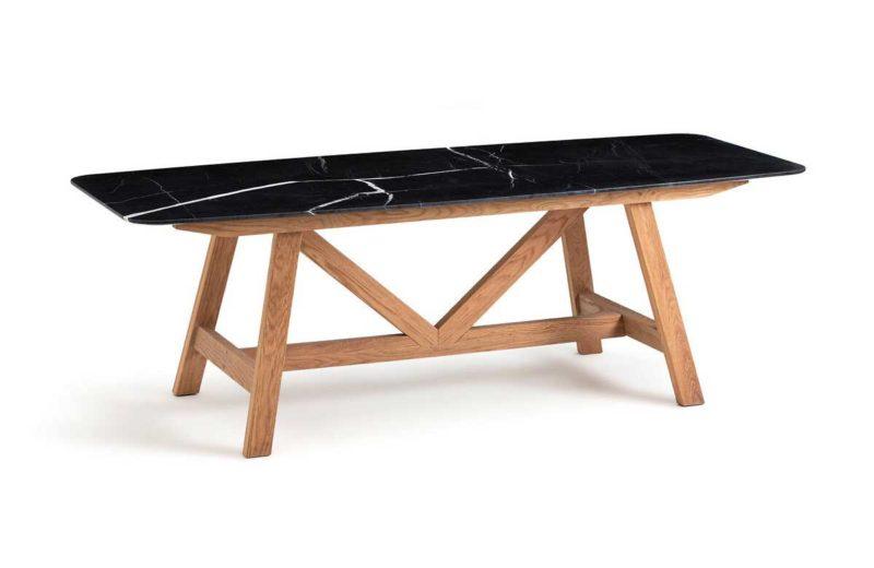 Table de salle à manger en marbre noir