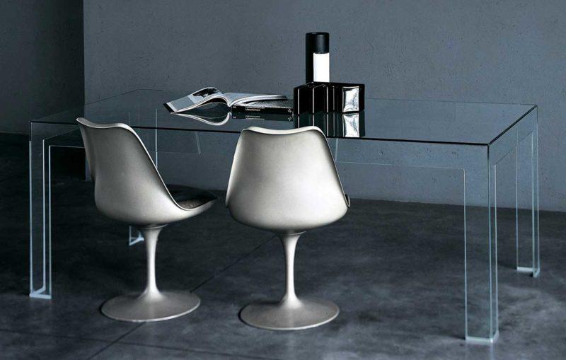 Table design en verre trempé