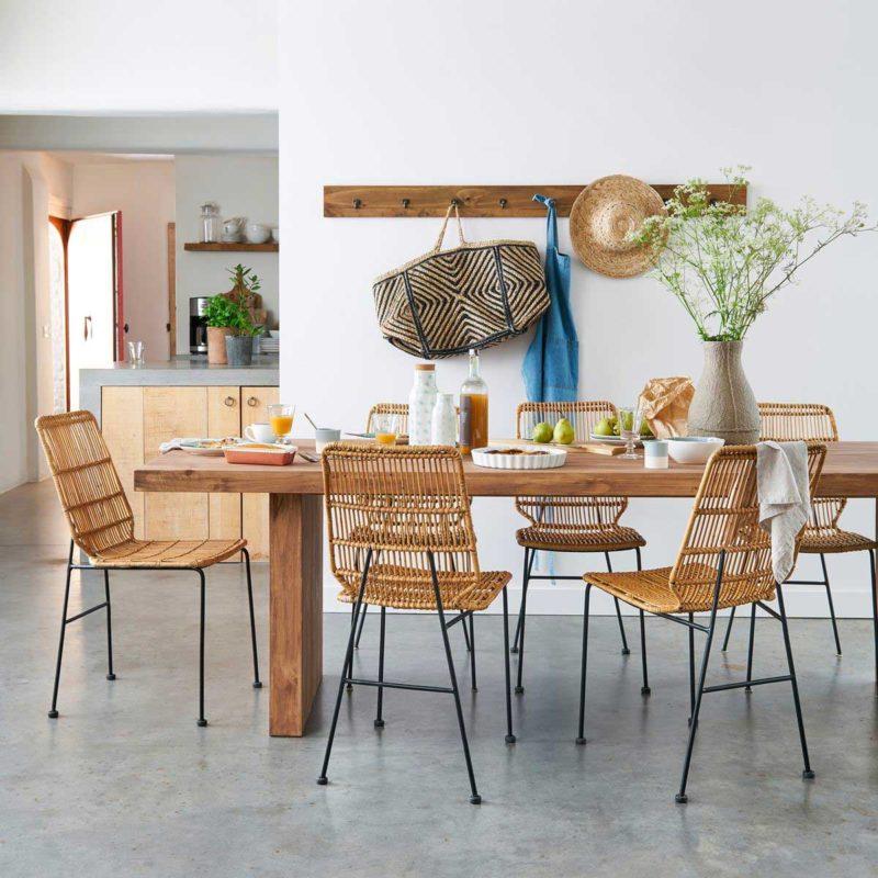 Table en bois massif esprit nordique