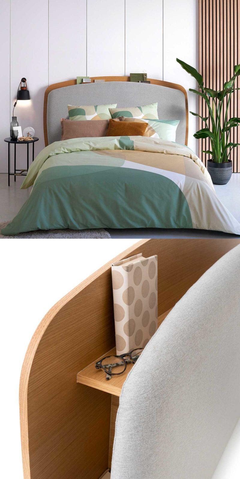 Tête de lit avec rangements intégrés
