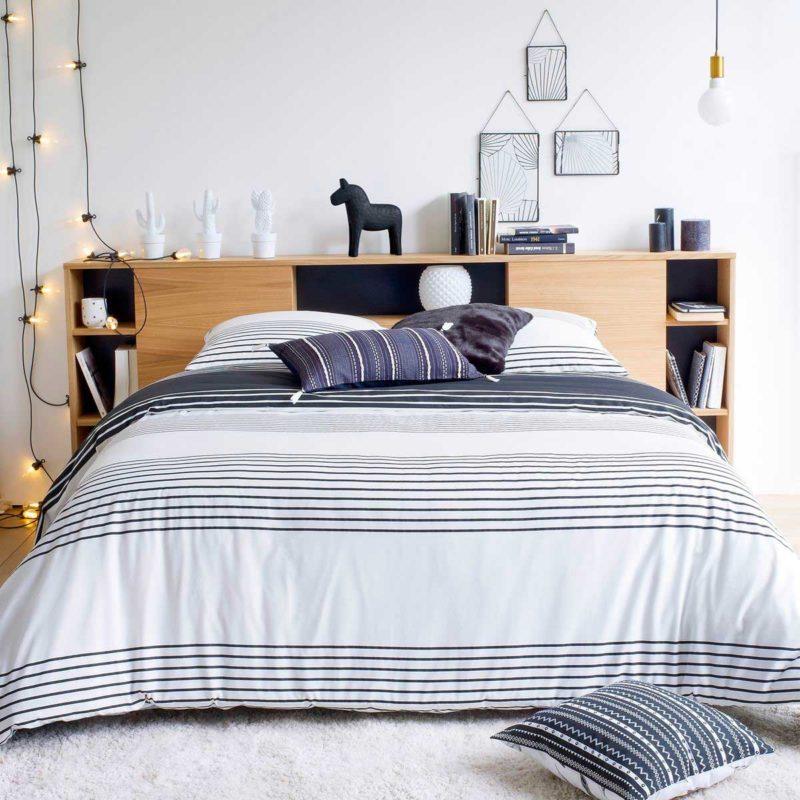 Tête de lit originale avec rangements