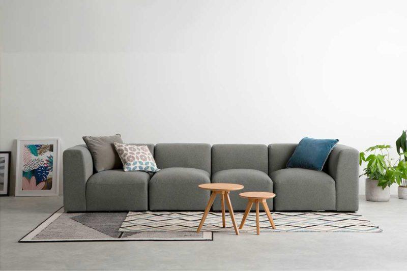 Canapé design modulable quatre places