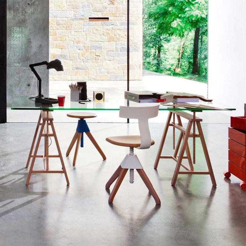 Chaise de bureau réglable en hauteur design contemporain