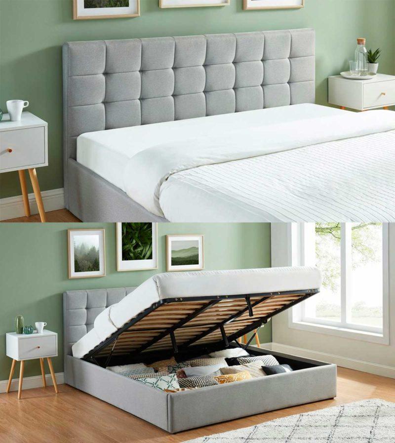 Chambre avec lit astucieux pour optimiser les rangements