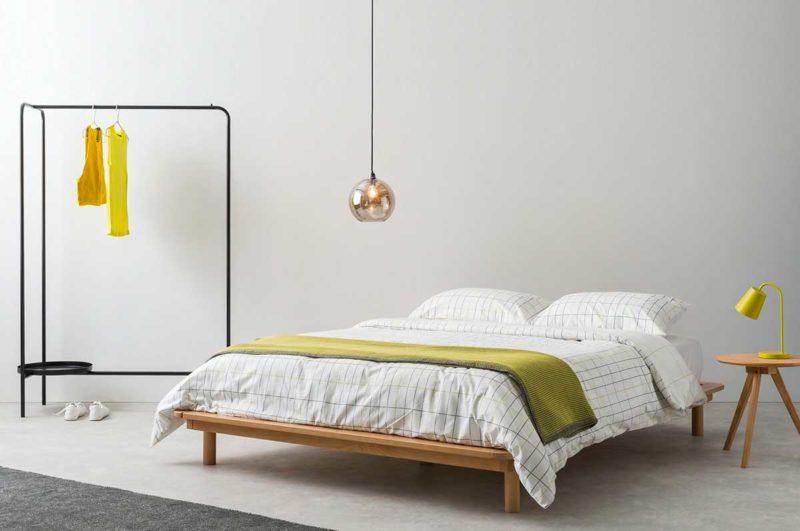 Lit design en bois pour chambre esprit japonais