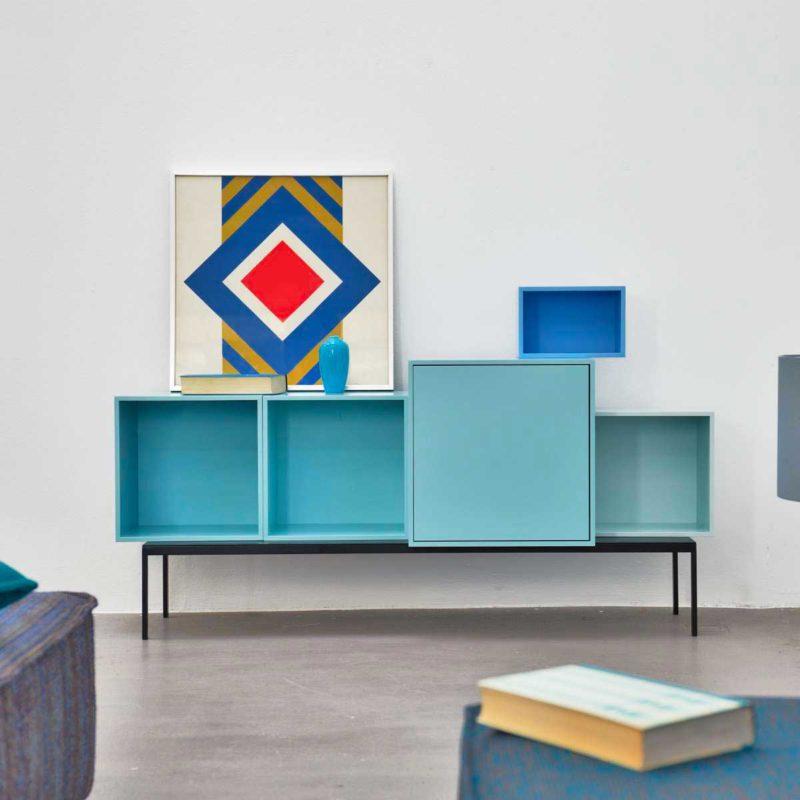 Buffet contemporain avec cubes modulables