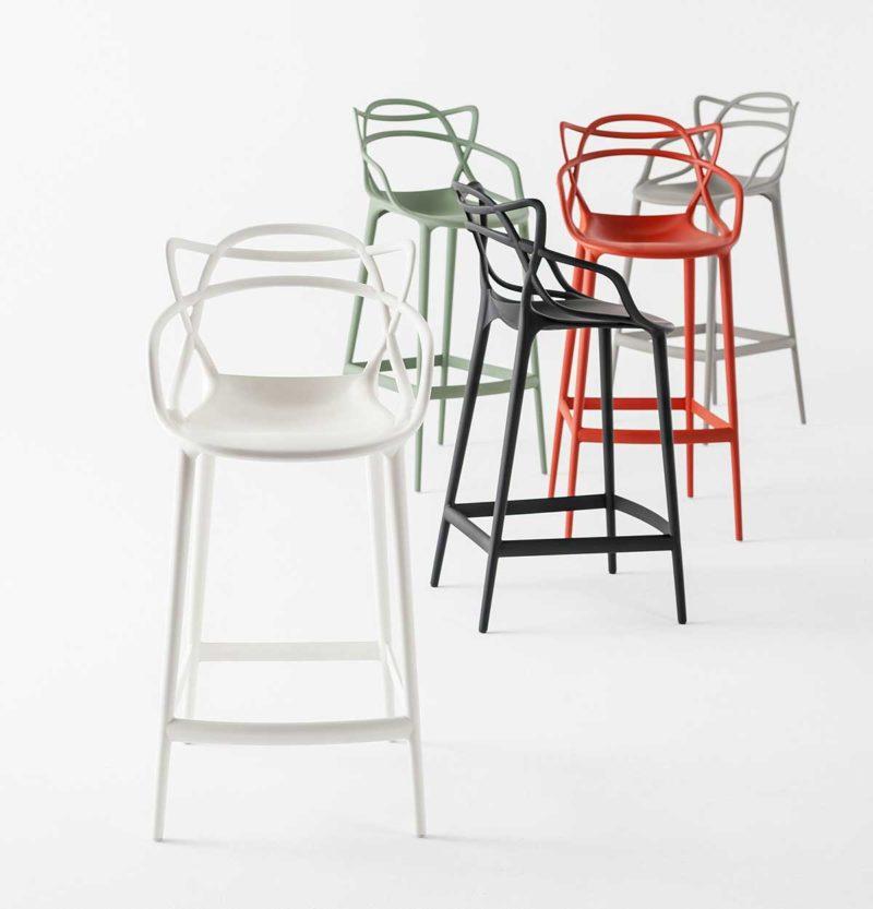 Chaise de bar design blanche