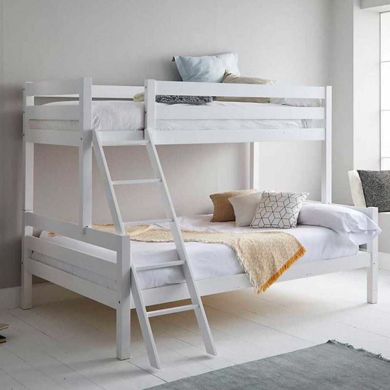 Lit double avec lit simple superposé