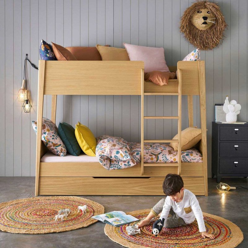 Lit superposé design avec lit tiroir