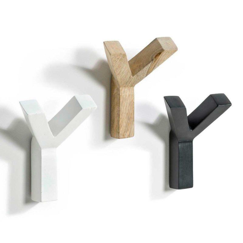 Patère en bois en forme de Y