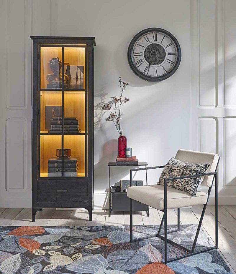 Petite vitrine bibliothèque avec éclairage