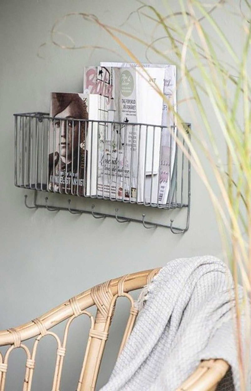 Porte-magazines avec crochets