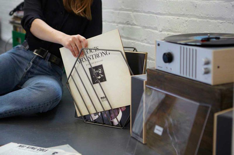 Support pour vinyles ou magazines