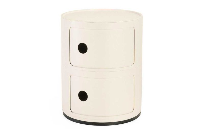 Table de chevet ronde design par Kartell