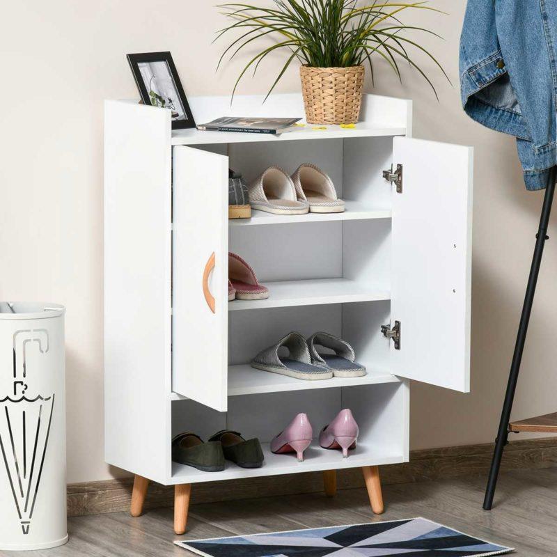 Placard blanc pour chaussures