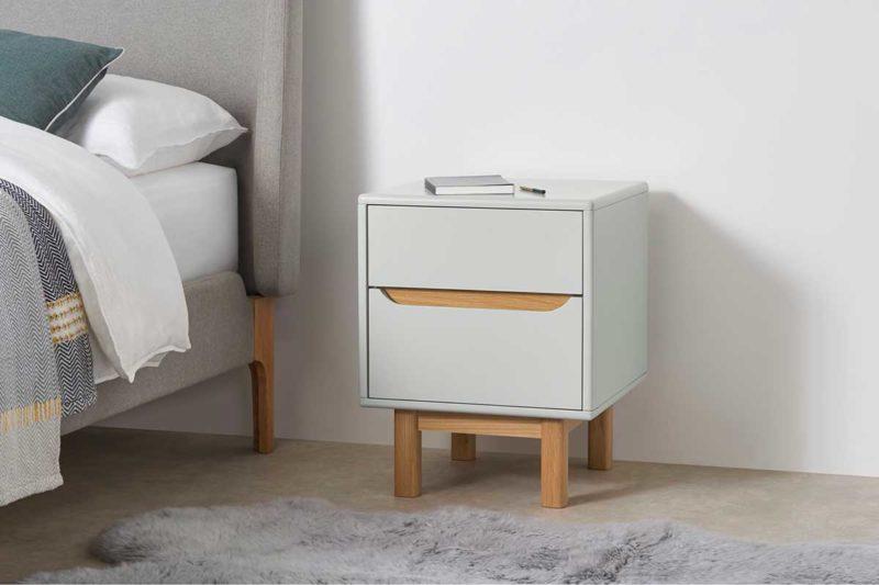 Double tiroir pour table de nuit scandinave