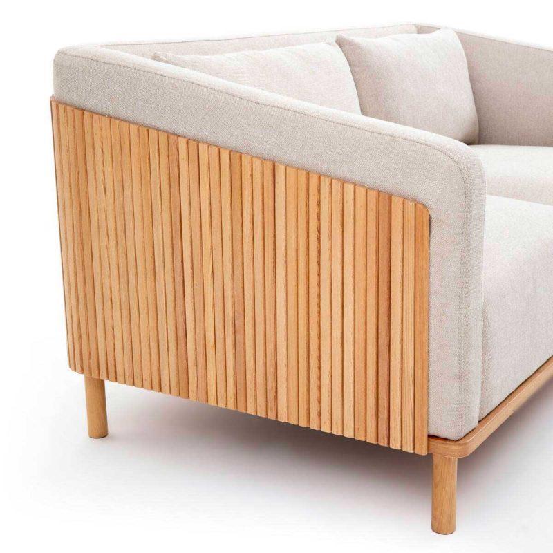 Canapé contemporain en bois